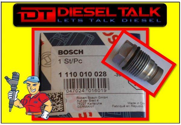 1110010028 BOSCH RELIEF VALVE – SUIT NISSAN PATROL ZD30 / FORD RANGER & BT50 2.5 / 3.0LTR